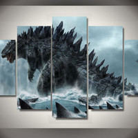 Godzilla 5 Piece Canvas LIMITED EDITION
