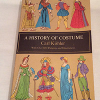 A History of Costume Vintage Book Fashion Costuming Theater Pattern Sewing Tailor Clothing Medieval Egyptian Ancient