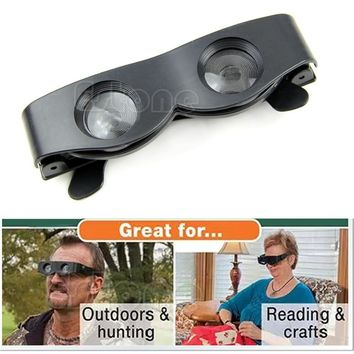 Magnifier Binoculars Portable Glasses Style Telescope For Fishing Hiking Concert-J117