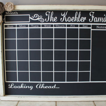 chalkboard calendar personalized large