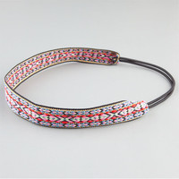 Full Tilt Embroidered Ribbon Headband Multi One Size For Women 23553295701