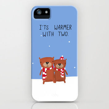 It's Warmer With Two iPhone Case by Dale Keys | Society6