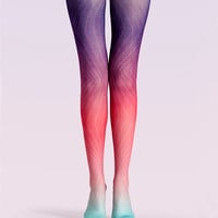 "Women's Fashion ""The Symmetry"" Printed Pattern High Waist Tights Pantyhose VK0143 by Fashnin.com"