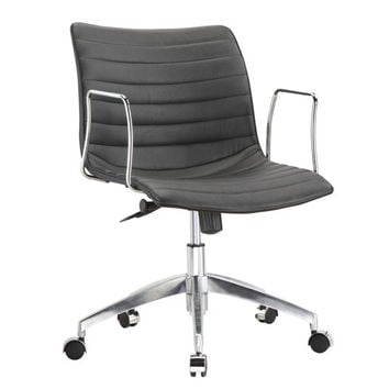 Black Mid-Back Modern Mid-Century Style Comfortable Office Chair