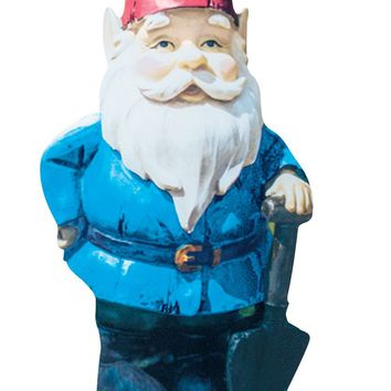 Gnome Garden Stake - Photo Realistic Metal Gnome Cutout for Yards, Planters, Lawns and Garden Décor
