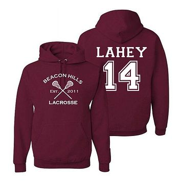 Isaac Lahey 14 Teen Wolf Beacon Hills Inspired Lacrosse Adult Fashion Apparel