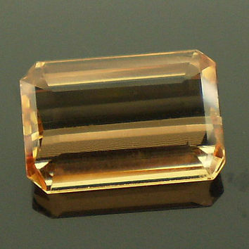 Precious Topaz: 3.73ct Cinnamon Pink Emerald Shape Gemstone, Natural Hand Made Faceted Gem, Loose Precious Mineral, AAA Jewelry Supply 20225