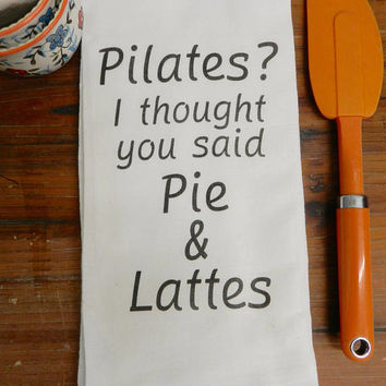 Pilates Towel Funny Food Pun Tea Towel Gift Kitchen Humor