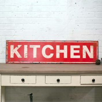 VINTAGE KITCHEN SIGN