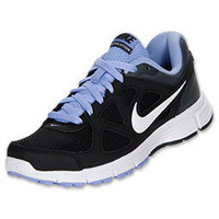 NEW WOMENS NIKE REVOLUTION RUNNING ATHLETIC SHOE SNEAKER BLACK PURPLE SIZE 9.5