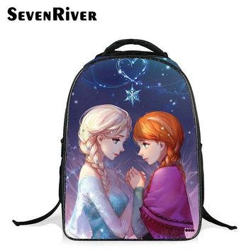 New Fashion Children School Bags For Girls Kids Backpack Cartoon Lovely Princess Anna Elsa Bag Schoolbag Mochilas Infantiles