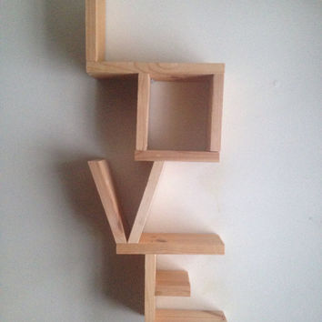 Love Shelf, Reclaimed Wood, Reclaimed Pine, Wall Decor, Home Decor, Wedding