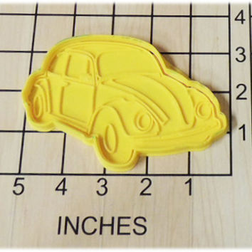 Volkswagen Beetle Bug/ VW Bug Shaped Cookie Cutter and Stamp #1217