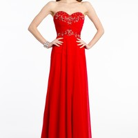 Strapless Beaded Knot Front Dress from Camille La Vie and Group USA