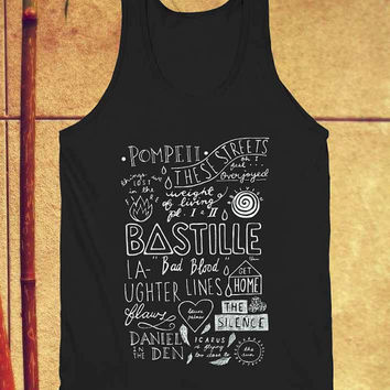 Bastille quote Lyric tank top black unisex adults size s-xxl