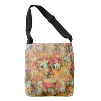 Flowers Face Crossbody Bag