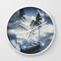 Forest sailing Wall Clock by happymelvin