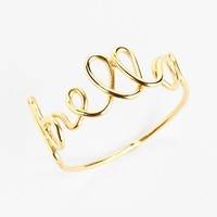 South Sun 'Bella' Wire Word Ring (Juniors) | Nordstrom