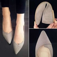Casual Comfortable Pointed Toe Rubber Flat Shoes