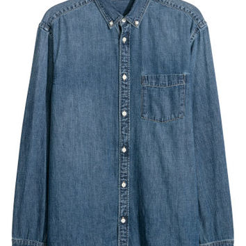 Denim shirt - Denim blue - Men | H&M GB
