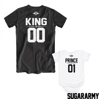 KING and PRINCE matching t-shirts