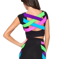 Womens Slim Sexy Multicolor Backless Bandage Dress