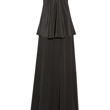 Michael Lo Sordo - Silk crepe de chine slip maxi dress