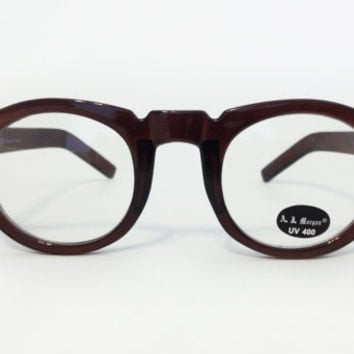 Vintage Brown Unisex Frames by AJ Morgan by ModernFiction on Etsy
