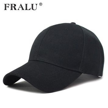 Trendy Winter Jacket FRALU Summer Baseball Cap Women Men's Fashion Brand Street Hip Hop Adjustable Caps Suede Hats for Men Black White Snapback Caps AT_92_12