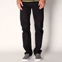 Rsq New York Slim Straight Mens Jeans Over Dye Black  In Sizes