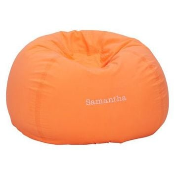 Color Wash Neon Orange Beanbag