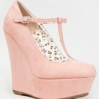 Breckelle's CILO-15 Mary Jane T-Strap Platform Wedge Heel Pump:Amazon:Shoes