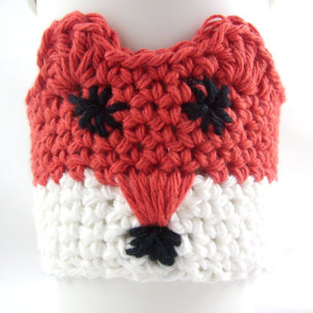 Fox coffee cup sleeve / coffee mug cozy / travel cup sleeve / cup cozy / travel mug cozy / travel mug sleeve / coffee cup sleeve /