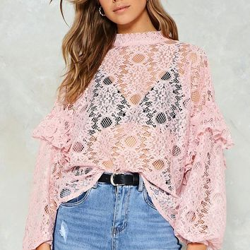 Easy Come Lace Blouse