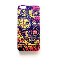 iPhone 6 Plus Case Mandala Tribal iPhone 6 Plus Soft Case Floral Back Cover Silicone For iPhone 6 Slim Design Case Paisley Mandala 1283