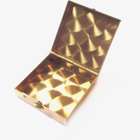 Vintage Pill Box, Gold Metal Compact Case