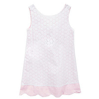 Chantilly Place 7-16 Eyelet-Embroidered Dress - Pink