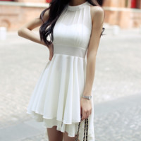 HOT SHOW BODY CHIFFON DRESS