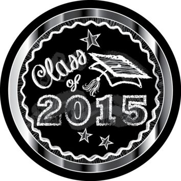 Silver Chalkboard Graduation Stickers