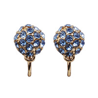 Fashion Luxury Crustal Earrings Beautiful Studs Mini Beads Jewelry Chunky Statement Earrings