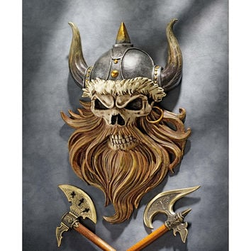Park Avenue Collection Skull Of Valhalla Viking Plaque