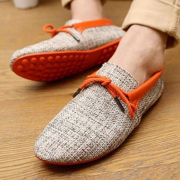 Summer Fashion Weaving Casual Soft Loafer Shoes