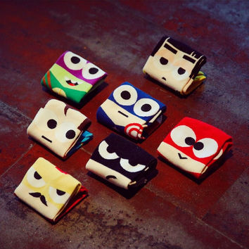 Cartoon Super Hero Socks(1-Pair)