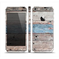 The Multicolored Tinted Wooden Planks Skin Set for the Apple iPhone 5
