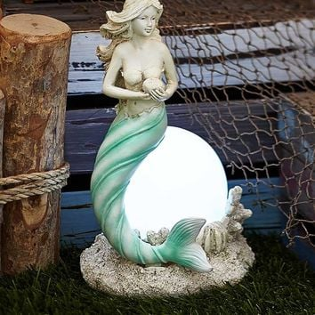 The Lakeside Collection Solar Mermaid Sculpture