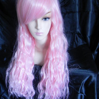 SALE // Superbass Nicki Minaj Light Pink / Long Wavy Layered Wig