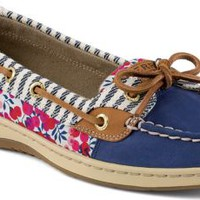 Sperry Top-Sider Angelfish Liberty Floral Print Slip-On Boat Shoe Blue, Size 7.5M  Women's Shoes