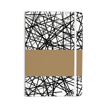 "Trebam ""Kava"" Black White Everything Notebook"