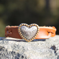 Braided Brown with Heart