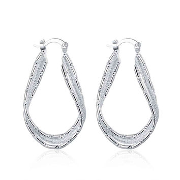 online shopping india silver plated earring streamline clip orecchini wedding jewelry 664 MP
